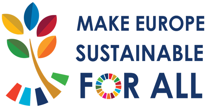 Logotipo de Make Europe sustainable for all